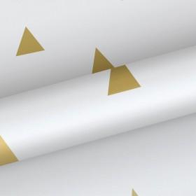 Tapeta w złote trójkąty 138943
