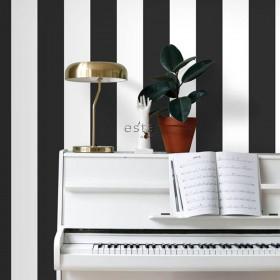 tapeta na ścianę czarno biała pasy