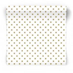 złote kropeczki tapeta