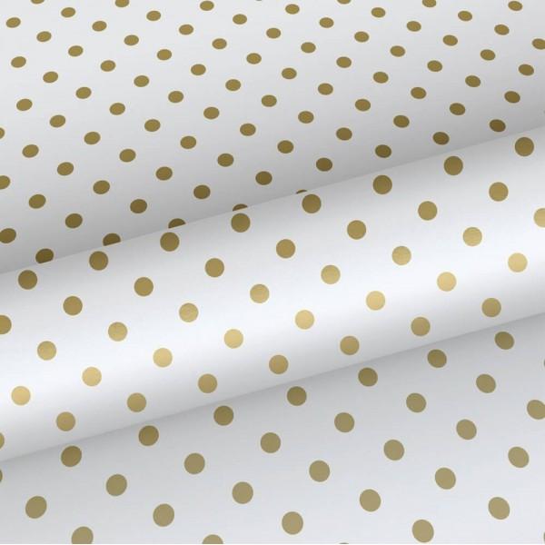 Tapeta w złote kropki 139113