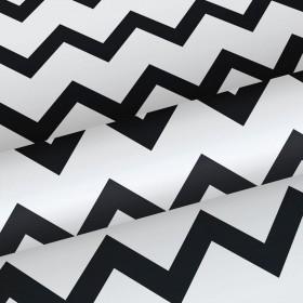 Tapeta w czarno biały zygzak 139115