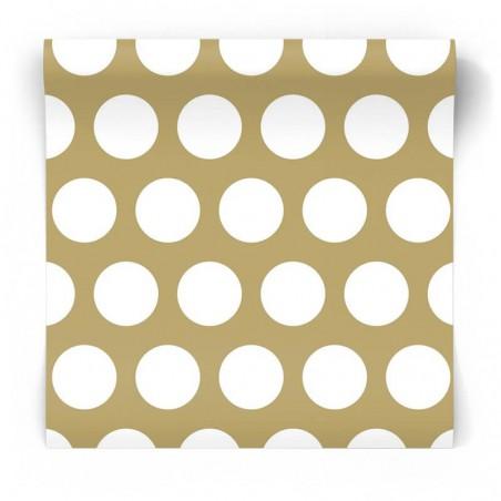 złota w kropki białe tapeta