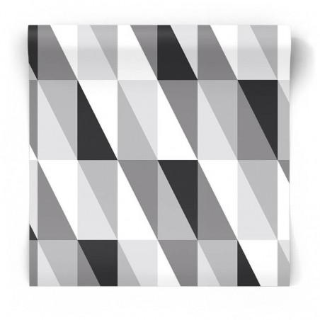czarno biała geometryczna 3D tapeta