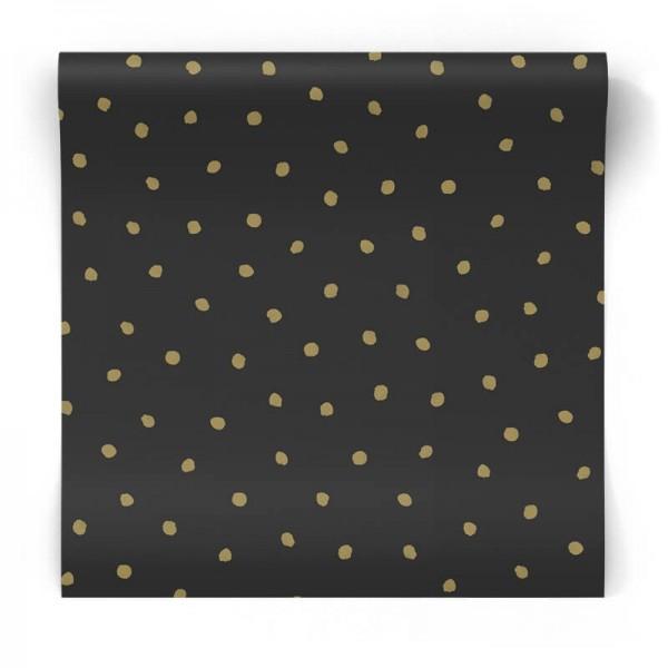 złote kropki czarna