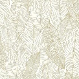 Nowoczesna tapeta złote liście