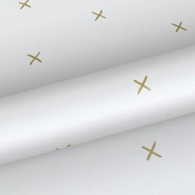 Skandynawska tapeta w złote krzyżyki 139129
