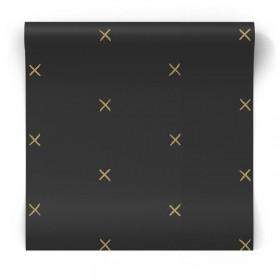 czarna w złote wzory