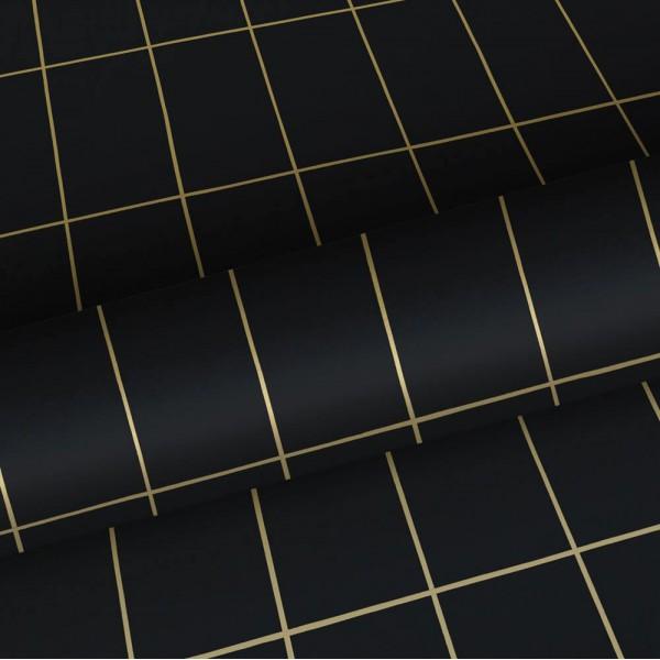 Czarna w złotą kratę 139132