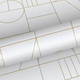 Futurystyczna tapeta w złote wzory 139141