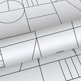 Czarno biała tapeta futurystyczna 139142