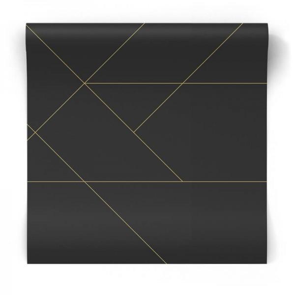 nowoczesna tapeta w złote linie
