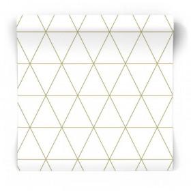 złota geometryczna tapeta