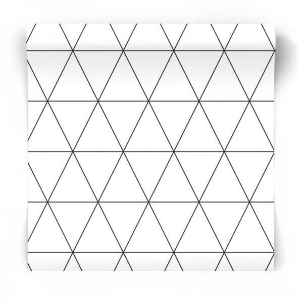 czarno biała w trójkąty