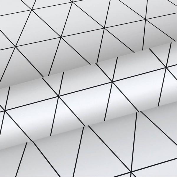 Tapeta sieć geometryczna czarno-biała 139148
