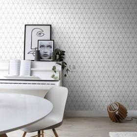 tapeta na ścianę geometryczna sieć trójkąty 3D