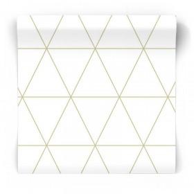 Tapeta w złote trójkąty 347682