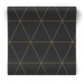 Czarna w złote trójkąty 347684