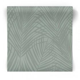 Zielona tapeta w liście palmy 347709