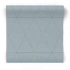 Popielata tapeta geometryczna 347713