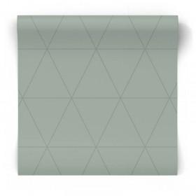 Geometryczna tapeta seledynowa 347714