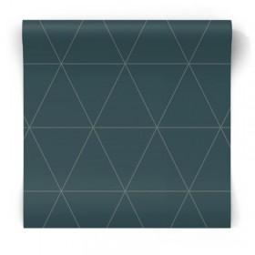Granatowa tapeta w trójkąty 347715
