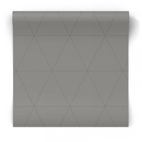 Stalowa tapeta geometryczna 347716