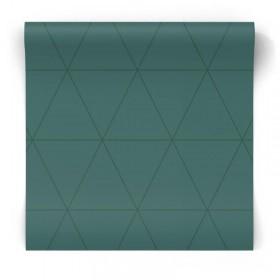Tapeta w trójkąty morska zieleń 347717