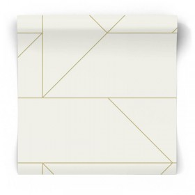 Tapeta geometryczna złote linie 347720
