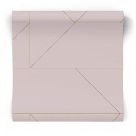Tapeta glamour różowa geometryczna 347721