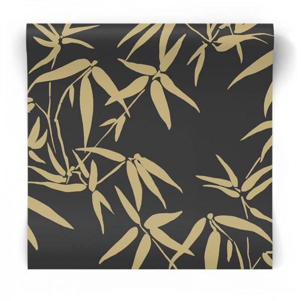Czarno złota tapeta glamour 347740