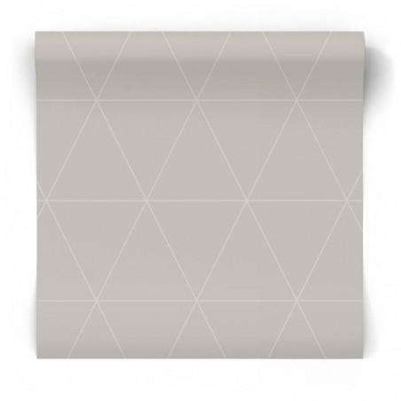 Geometryczna tapeta szara 347744