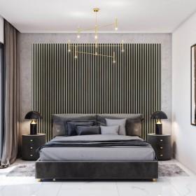dekoracyjna ściana w sypialni