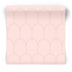 Tapeta art deco różowa