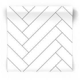 Czarno biała tapeta geometryczna