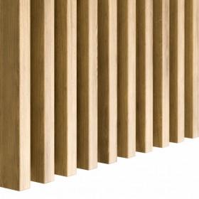 Lamele ścienne 3D drewniane