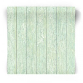 Tapeta ścienna zielone deski G56440