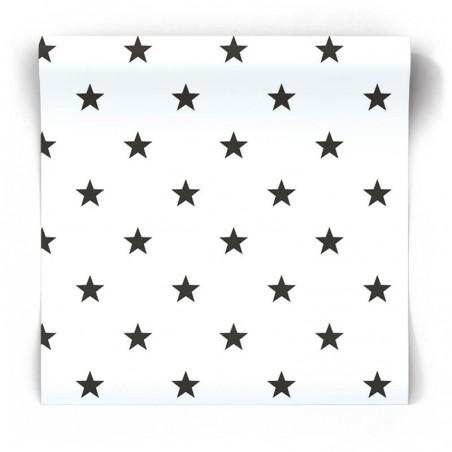 Tapeta w szare gwiazdki na białym tle - G23352