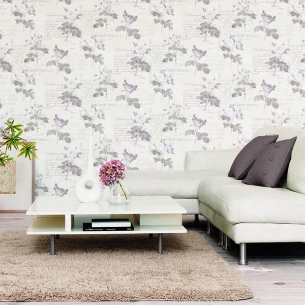 tapeta w róże i kwiaty z napisami do sypialni i salonu