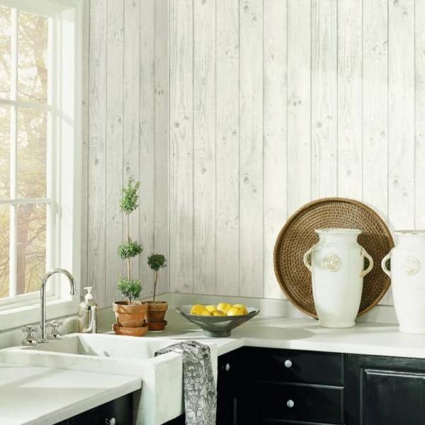 Tapeta imitacja desek do kuchni zmywalna winylowa