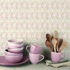 Tapety w romby różowe geometryczne 3D