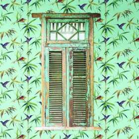 Tapeta wzór tropikalny - miętowy wzór tapety nowoczesnej