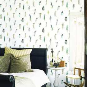 Nowoczesna tapeta flizelinowa do salonu w stylu BOHO