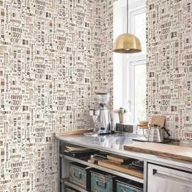 Tapeta zmywalna z napisami kuchennymi Vintage