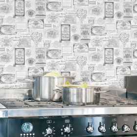 Tapeta etykiety win w stylu vintage do kuchni