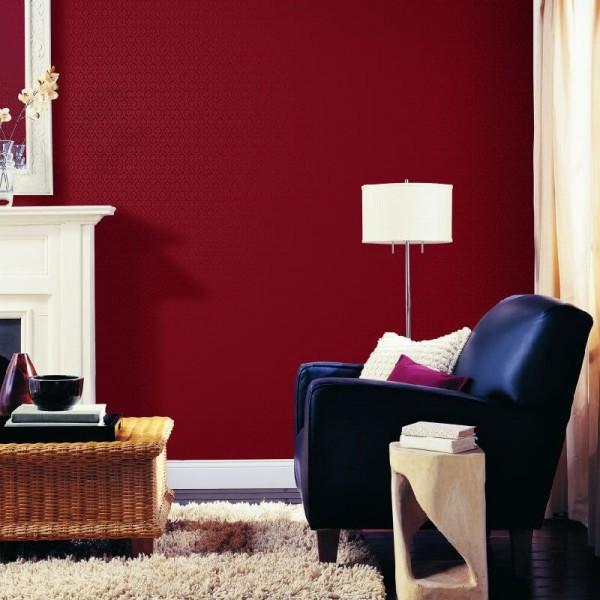 Czerwona bordowa tapeta błyszcząca laserowa do salonu