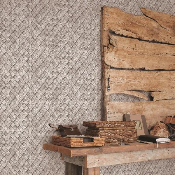 Nowoczesne tapety do pokoju szare w stylu loftowym