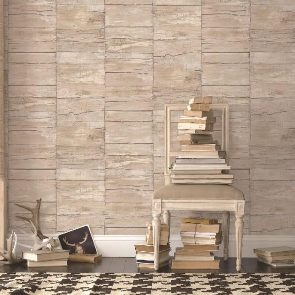 Tapety imitacje drewna desek beton nowoczesne aranżacje wnętrza