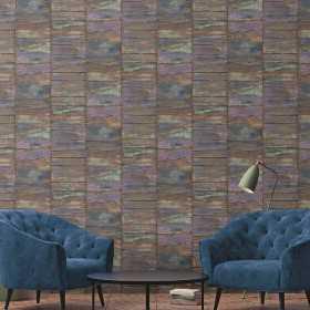 Nowoczesna tapeta Retro imitacja desek do pokoju i salonu