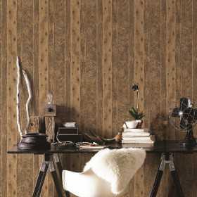 Aranżacje wnętrz - tapety imitujące deski i drewno flizelinowe