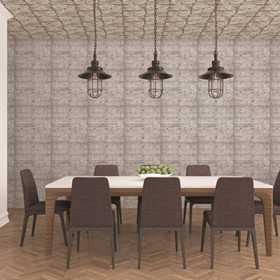 Tapety imitacja płyt betonowych do jadalni i pokoju